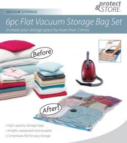 6pc vacuum storage bag set