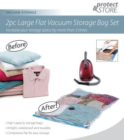 Large flat vaccum storeagebag set